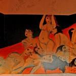 Erwachen 1998 (Acryl auf Sperrholz 240x120 cm, dreiteilig, Innenseite von Die Nacht)