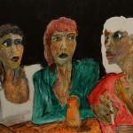 Die Verschwörung 1996 (Acryl auf Sperrholz, 125 x 75 cm)