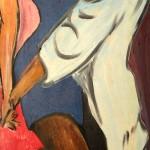 Tanz 1988 (Acryl auf Sperrholz, 142x48 cm)