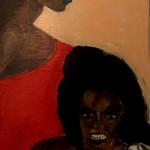 Wut 1998 (Acryl auf Sperrholz 124x54 cm)