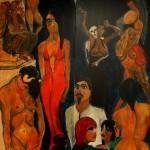 Traumgesicht 1998  (Acryl auf MDF zweiteilig, 140 x108 cm)
