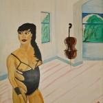 Musikzimmer 1989 (Acryl auf Holz 118x147 cm)