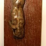 Stürzend (Metall, Holz, 54x247x39 cm)