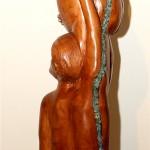 Wir sind schwanger 2012 (Holz, Glas, 30x220x35 cm)