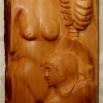 Venezianischer Karneval (Holz, 56x155x10 cm)