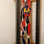 Paradieswächter (Holz, Metall, 50x200x35 cm)